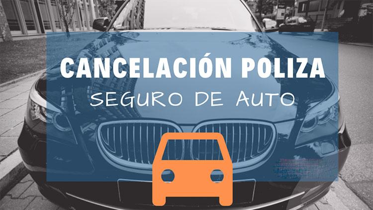 Modelo de carta de cancelación de seguro de auto